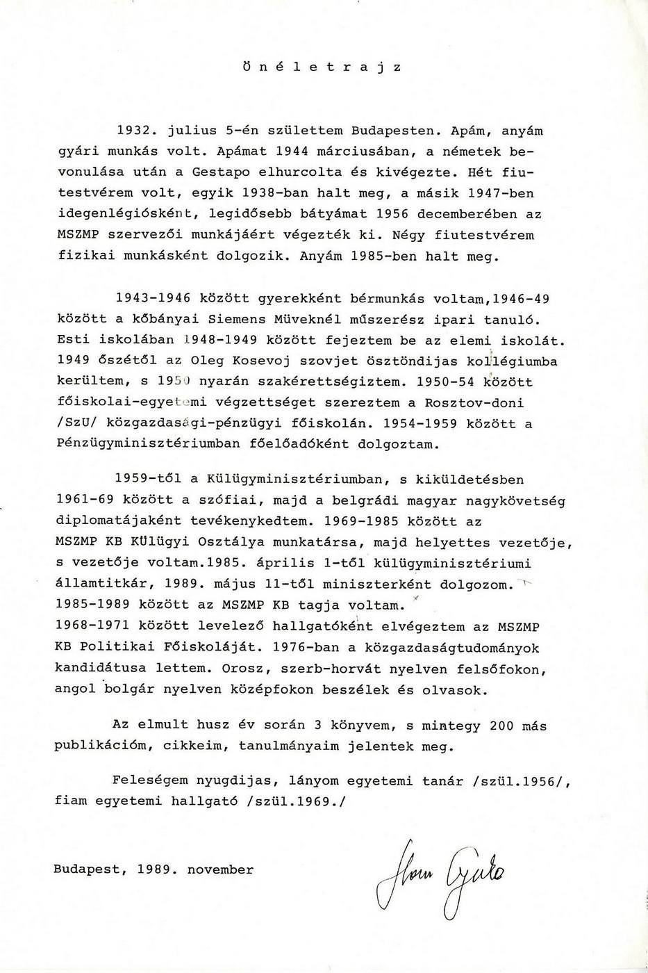 1989. Horn Gyula önéletrajza..jpg