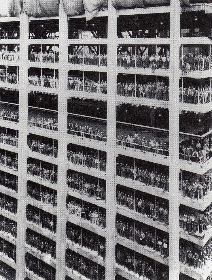 1955. A new york-i Chase Manhattan Plaza építése..jpg