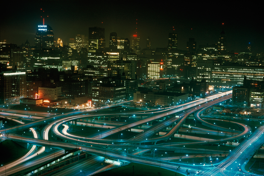 1968. Chicago-i autópálya kereszteződés éjjel..jpg