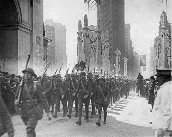 1918. I. világháború vége. Díszmenet New York-ban.jpg