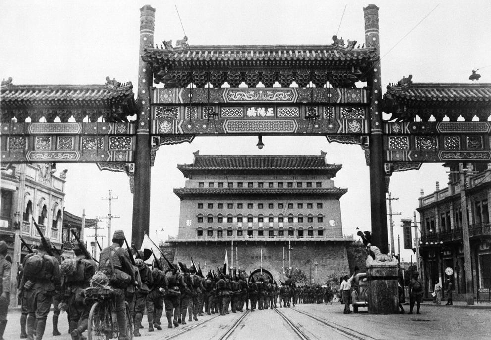 1937. Japán csapatok szállják meg Pekinget..jpg