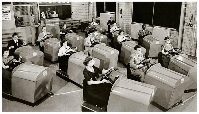 1955. Autóvezetői tréning Brooklynban..jpg