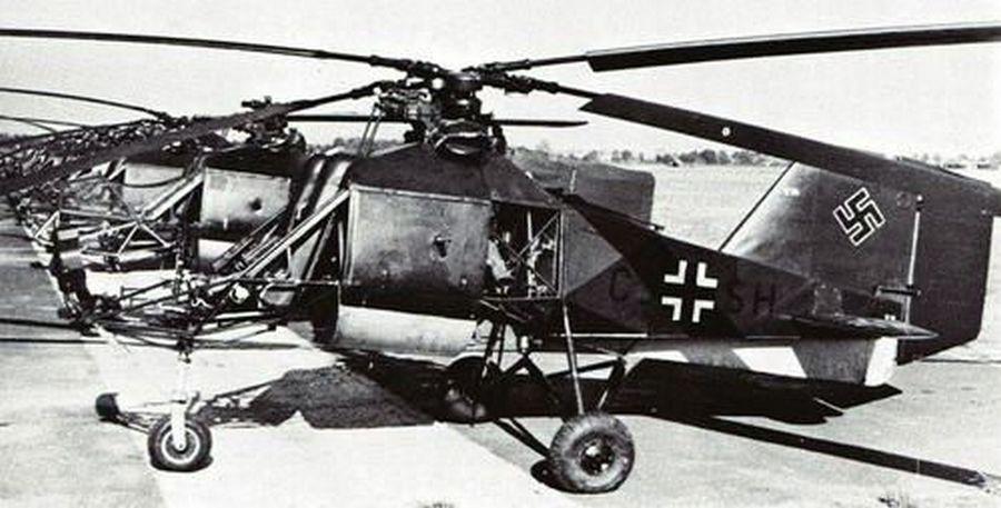1944. Scwednitz, Szilézia. A Flettner 282, német helikopterek első példányai..jpg