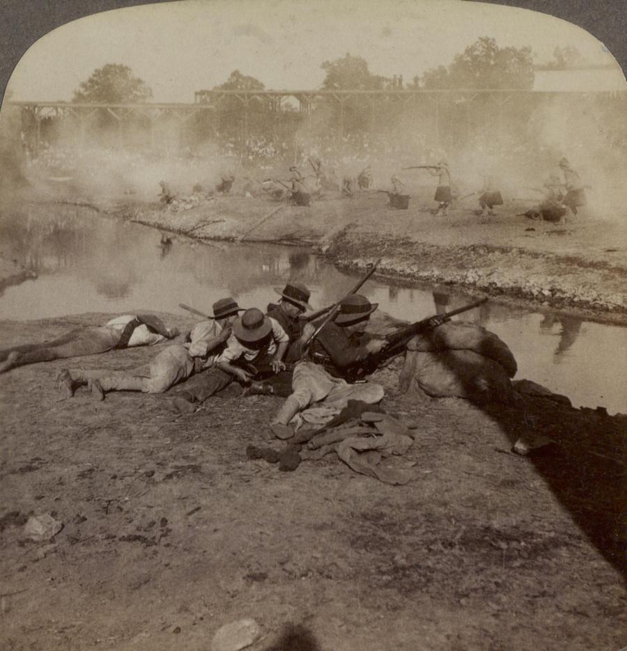1904. A Colensoi csata újrajátszása a st. louis-i világkiállításon..jpg