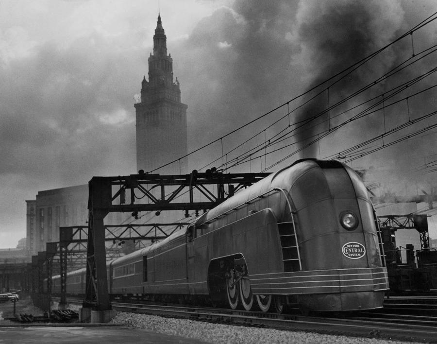 1936. Mercury gőzmozdony a Cleveland-i pályaudvaron..jpg