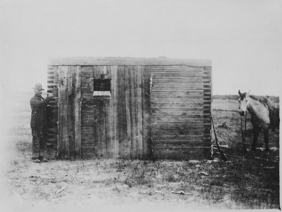 1893. Fából épült börtön Wyomingban..jpg