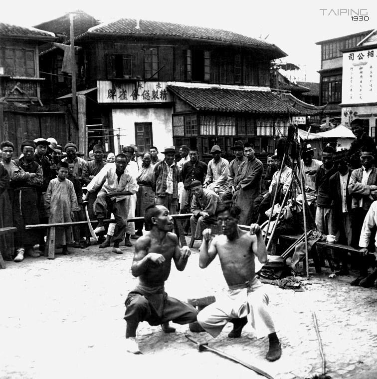 1930. Majomboksz előadás Sanghajban..jpg