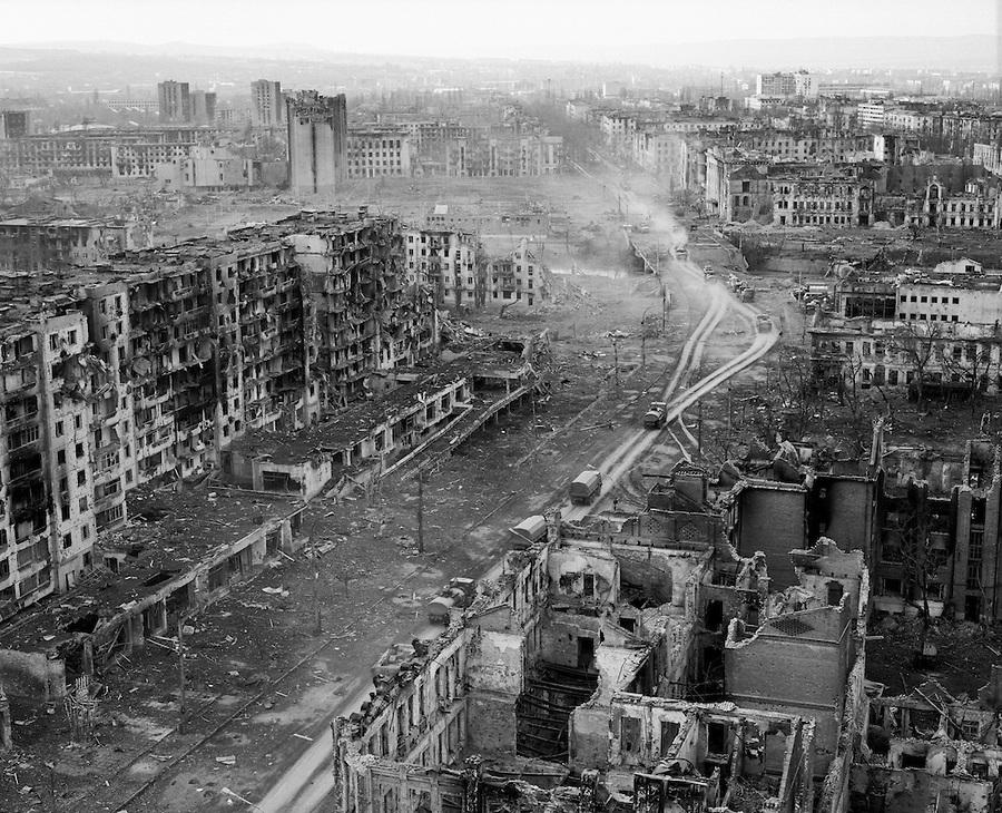1995. Groznij belvárosa az első csecsen háború végén.jpg