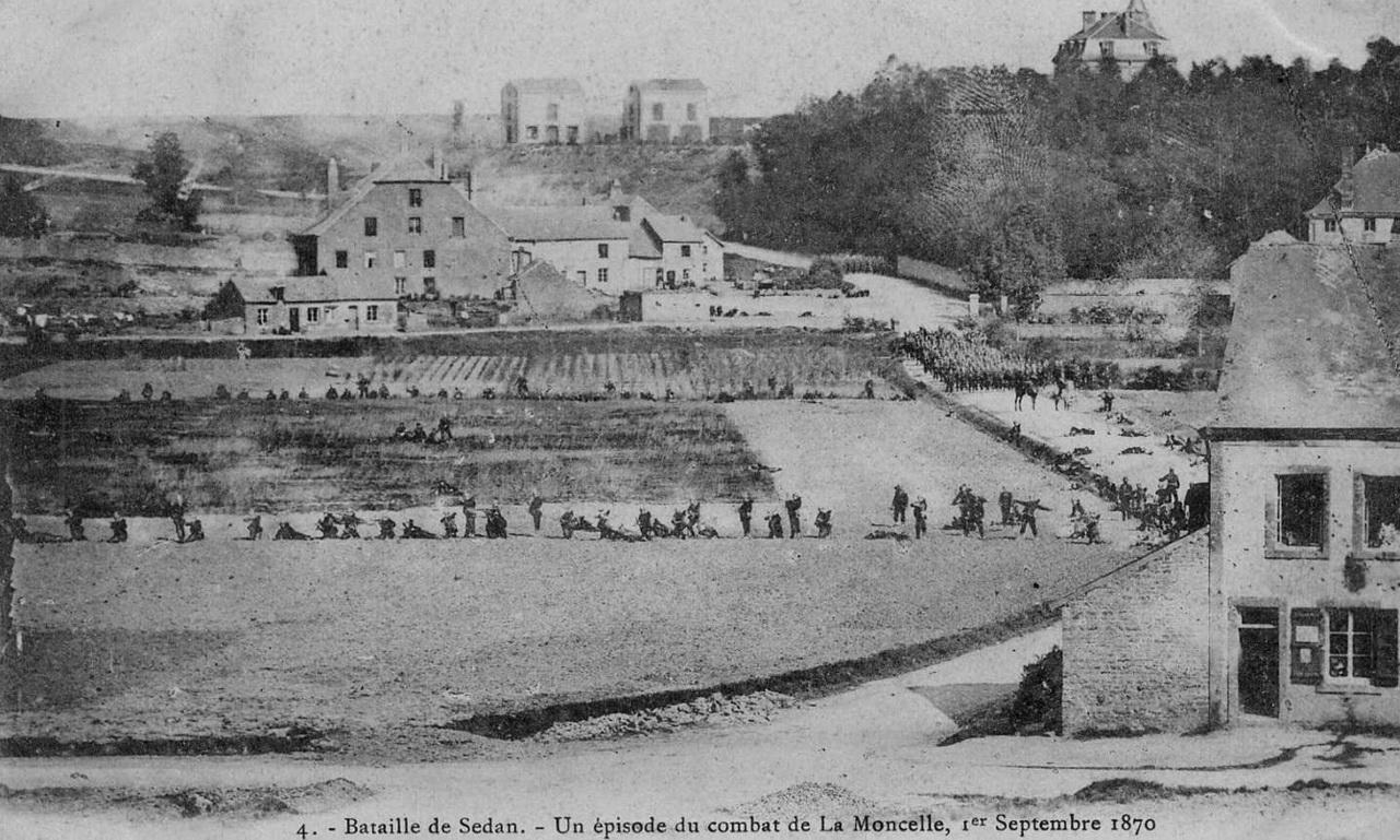 1870. Sedani csata. A porosz-francia háború a franciák vereségével végződött, III. Napoleon császár is fogságba esett..jpg