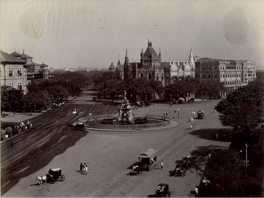 1880. Bomby, India. Flóra szökőkút. A brit befolyás gyönyörűen érezhető a képen..jpg