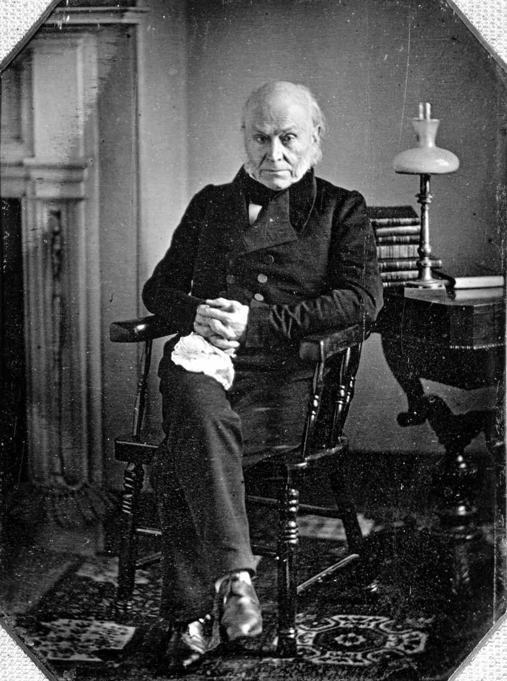 1843. Az első lefotózott amerikai elnök John Quincy Adams..jpg