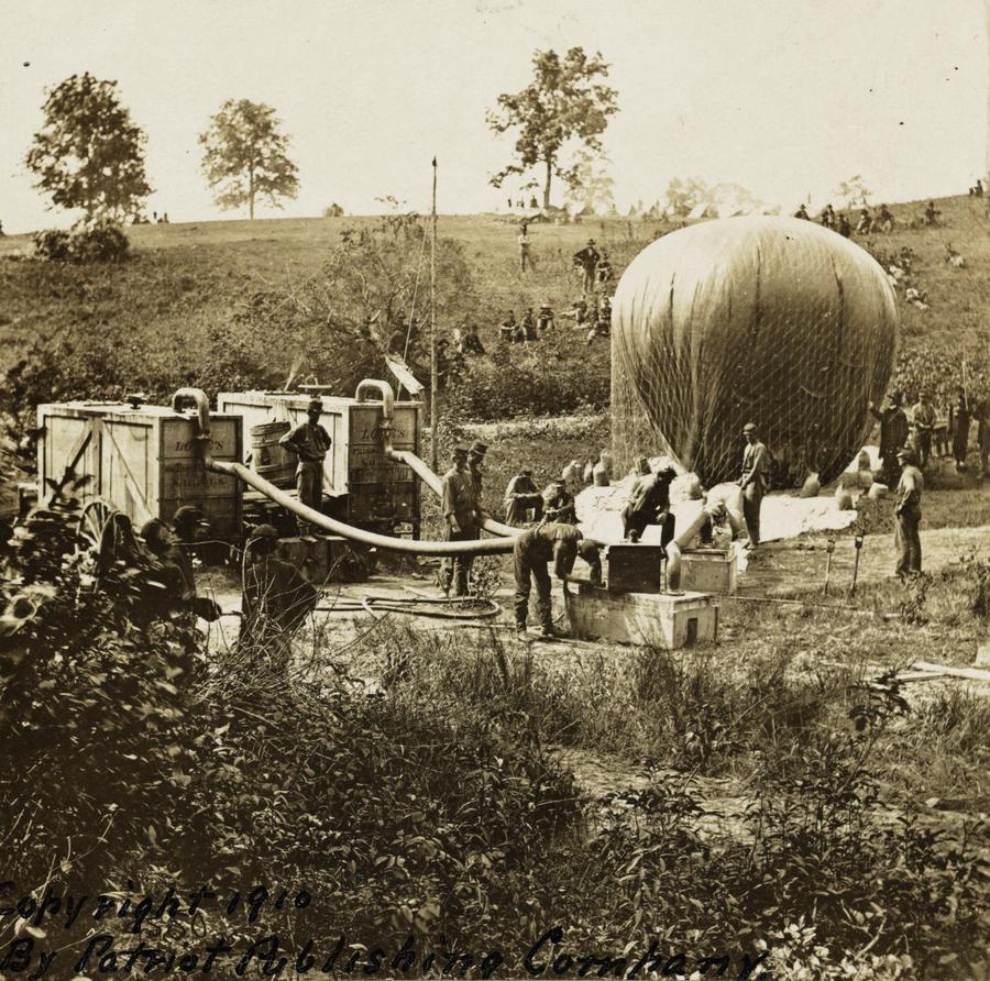 1862. Katonai ballon kísérleti indítása. Gaine's Mill, Virginia..jpg