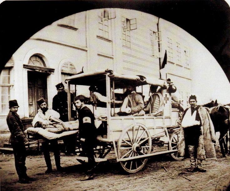 1877. Szerb sebesültszállító, a szerb-török háborúban..jpg