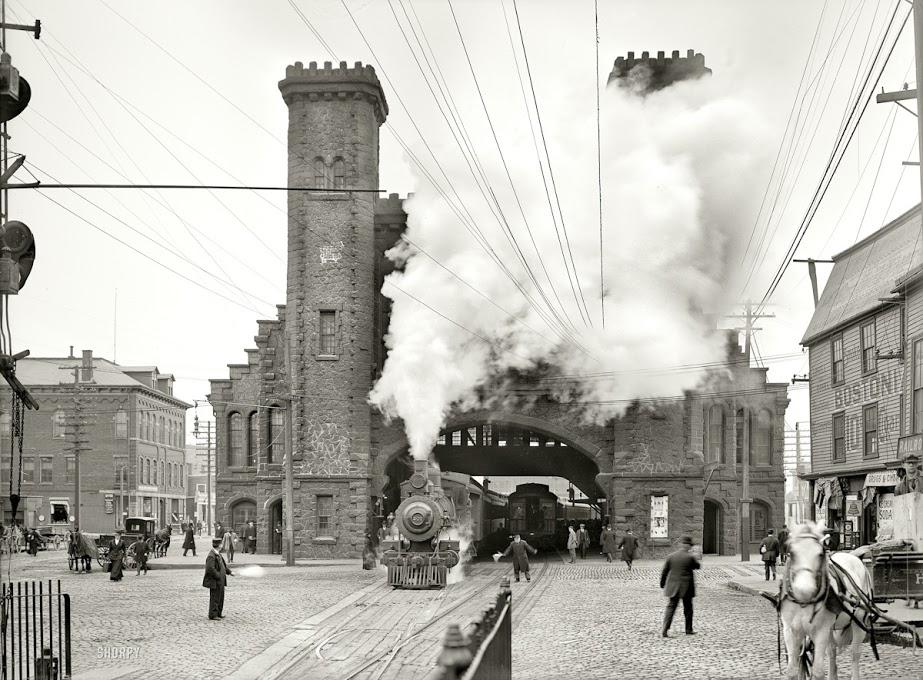 1910. A Boston and Maine vasúttársaság pályaudvara Bostonban..jpg