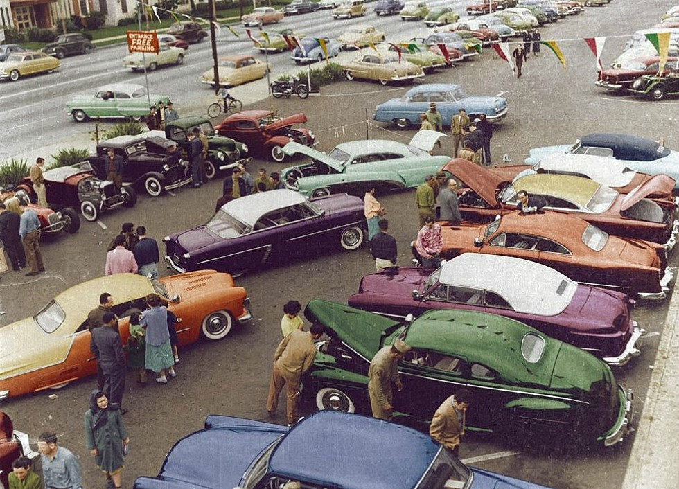 1954. Los Angeles, Custom car és Hot rod show..jpg