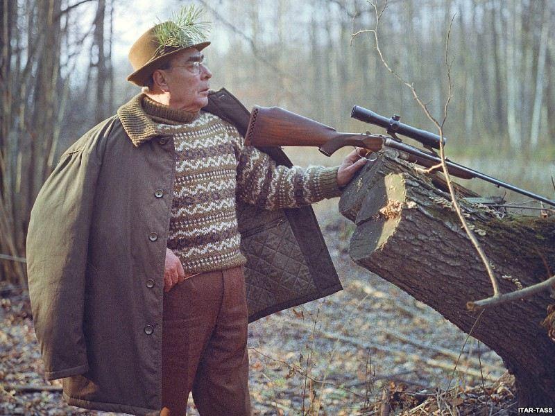 1973. Leonyid Brezsnyev, volt szovjet első titkár Ukrajnában vadászik..jpg