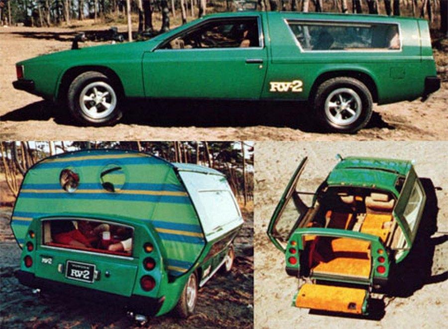 1972. A tokiói autókiállításon bemutatott Toyota RV-2 koncepcióautó, ami a máig egyetlen sportkocsiból kialakítható lakóautó..jpg