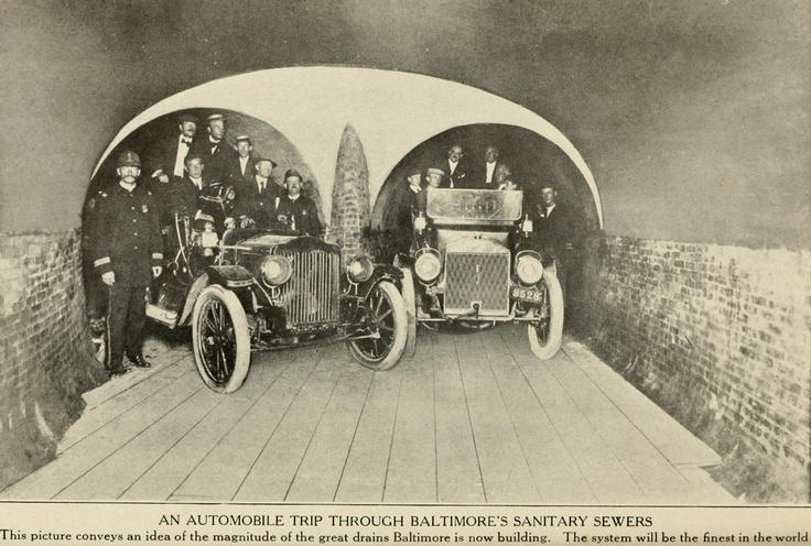 1914. Gépkocsival Baltimore új csatornarendszerében..jpg