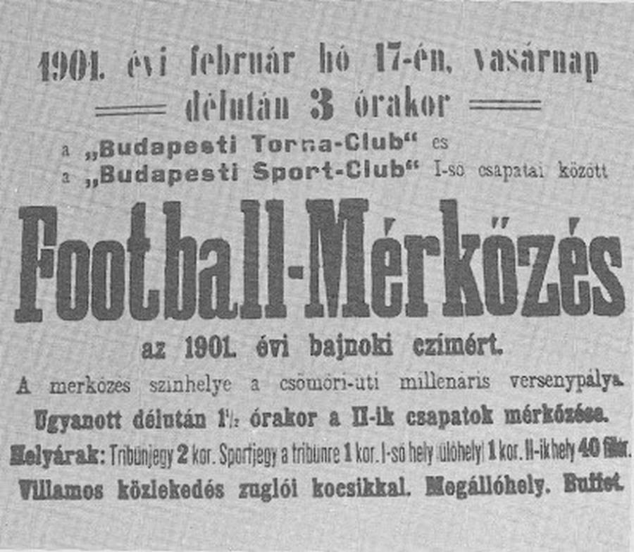 1901. Az első magyar bajnoki mérkőzés plakátja.jpg