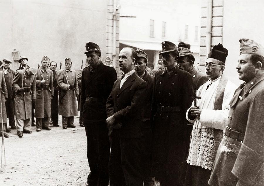 1947. október 23. Donáth György, a Magyar Közösség per fővádlottja, kivégzése előtt..jpg