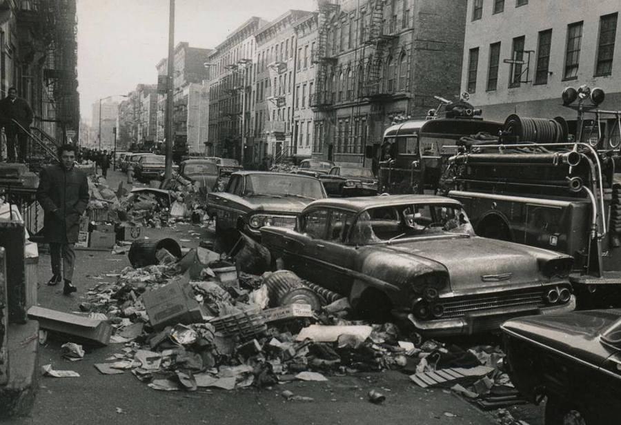 1968. New York-i utca a szemétszállítók szrájkja idején..jpg