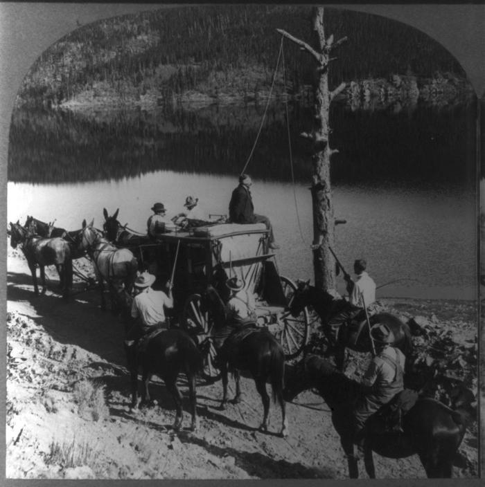 1890. körül. Postakocsirabló akasztása Texasban..jpg