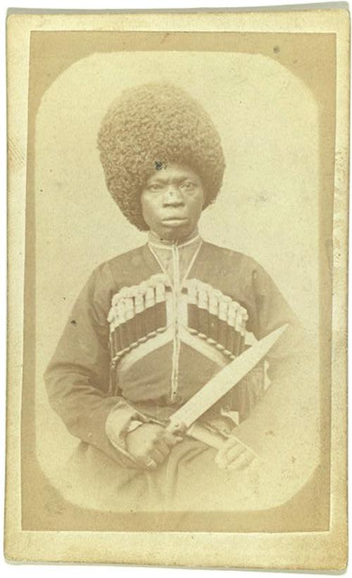 1870. Karabahi néger. Mikronépcsoport volt Grúzia hegyvidékein. Az elmélet szerint az ókori Kolkhisz birodalom afrikai rabszolgáiból fennmaradt etnikum..jpg