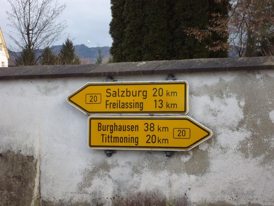 Burghausenből Freilassing felé megyünk
