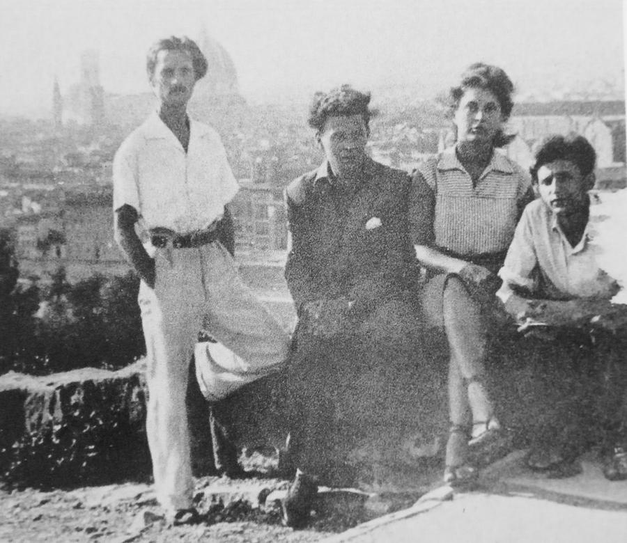 1947 Firenze zugor,reigl ottó,regl jud, böhm poldi.JPG