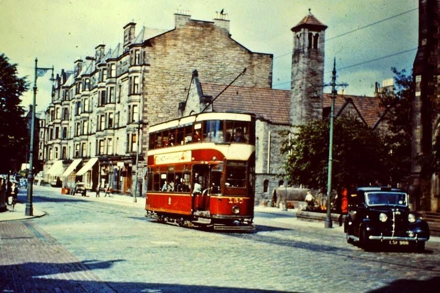 Streets of Edinburgh, Scotland in Color in the 1950s (12).jpg
