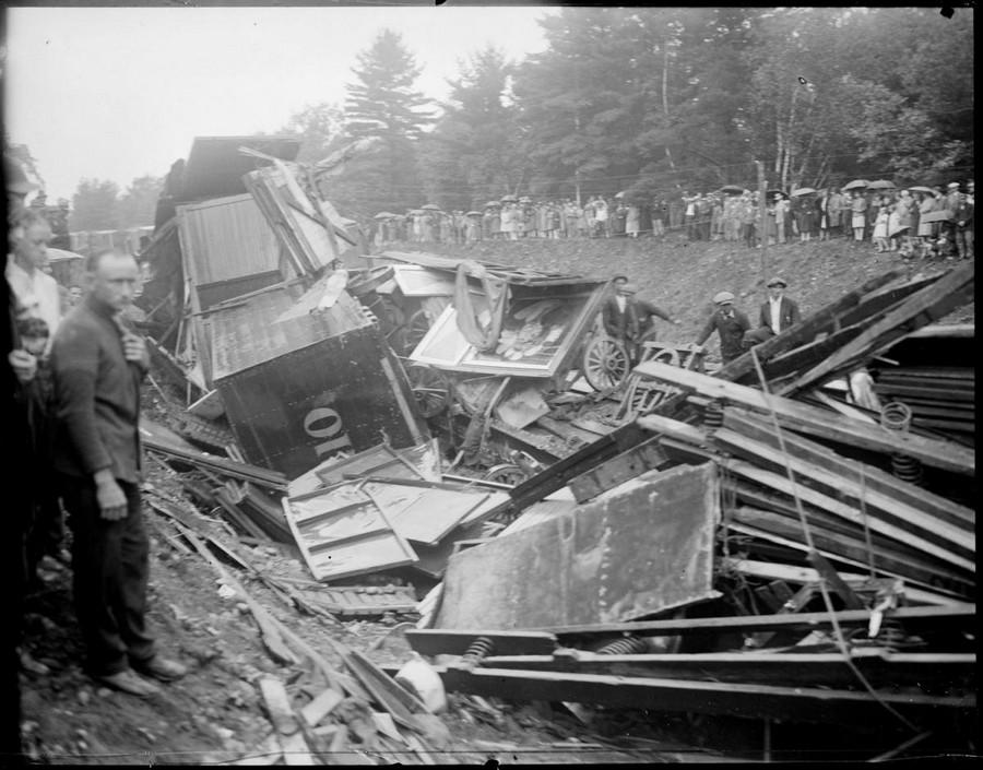 1928. A Bernardi Greater Shows cirkusz szerelvény balesete. Farmington, New Hampshire. 2.jpg