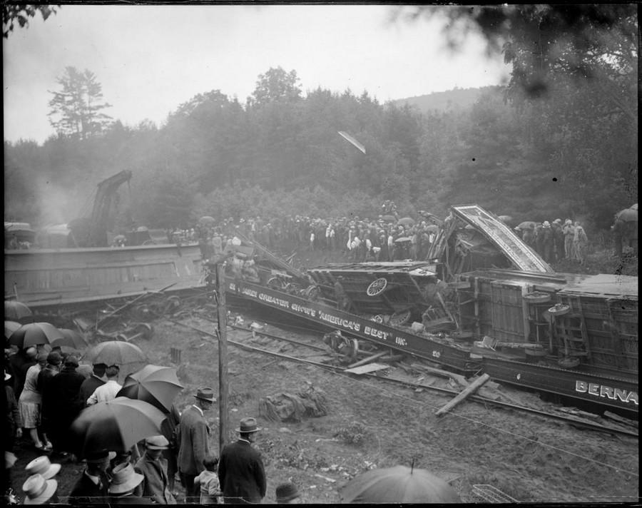 1928. A Bernardi Greater Shows cirkusz szerelvény balesete. Farmington, New Hampshire. 3.jpg