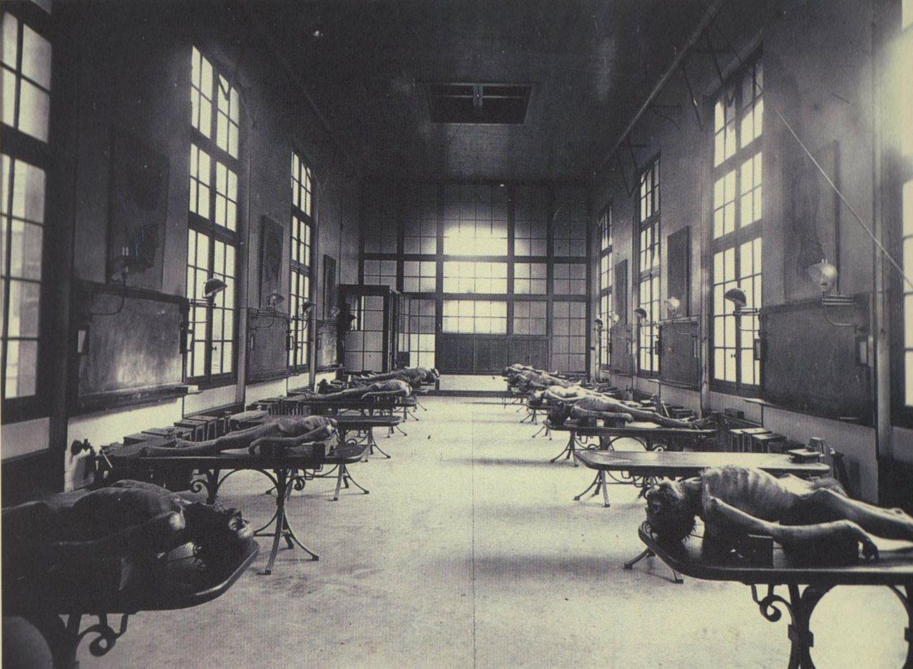1890. Bordeaux-i orvosi egyetem gyakorló boncterme..jpg