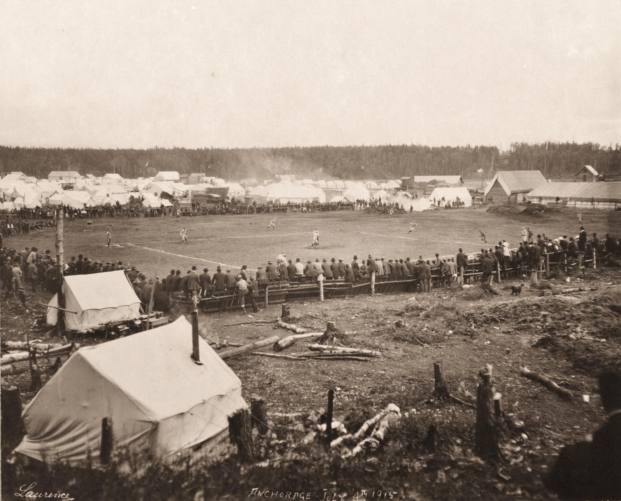 1915. Anchorage, Alaszka. Baseball mérkőzés..jpg