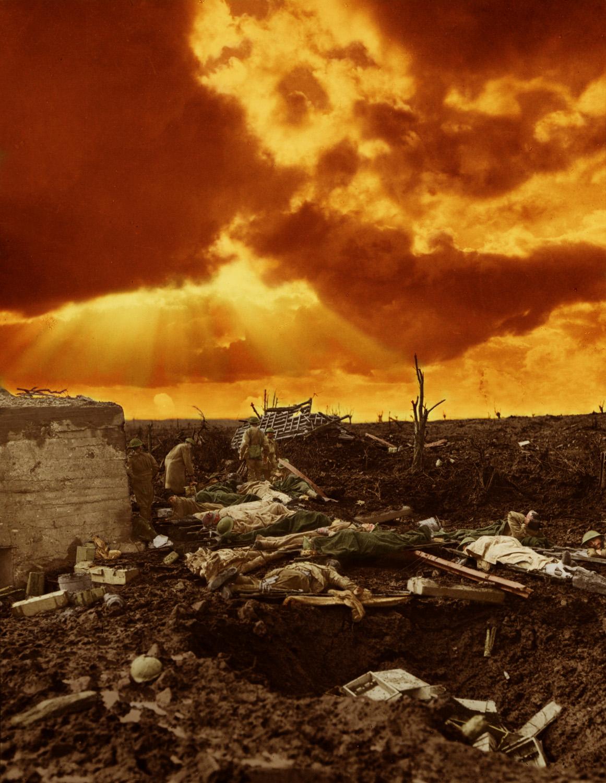 1917. I. világháborús sérült brit katonák a fronvonalban..jpg
