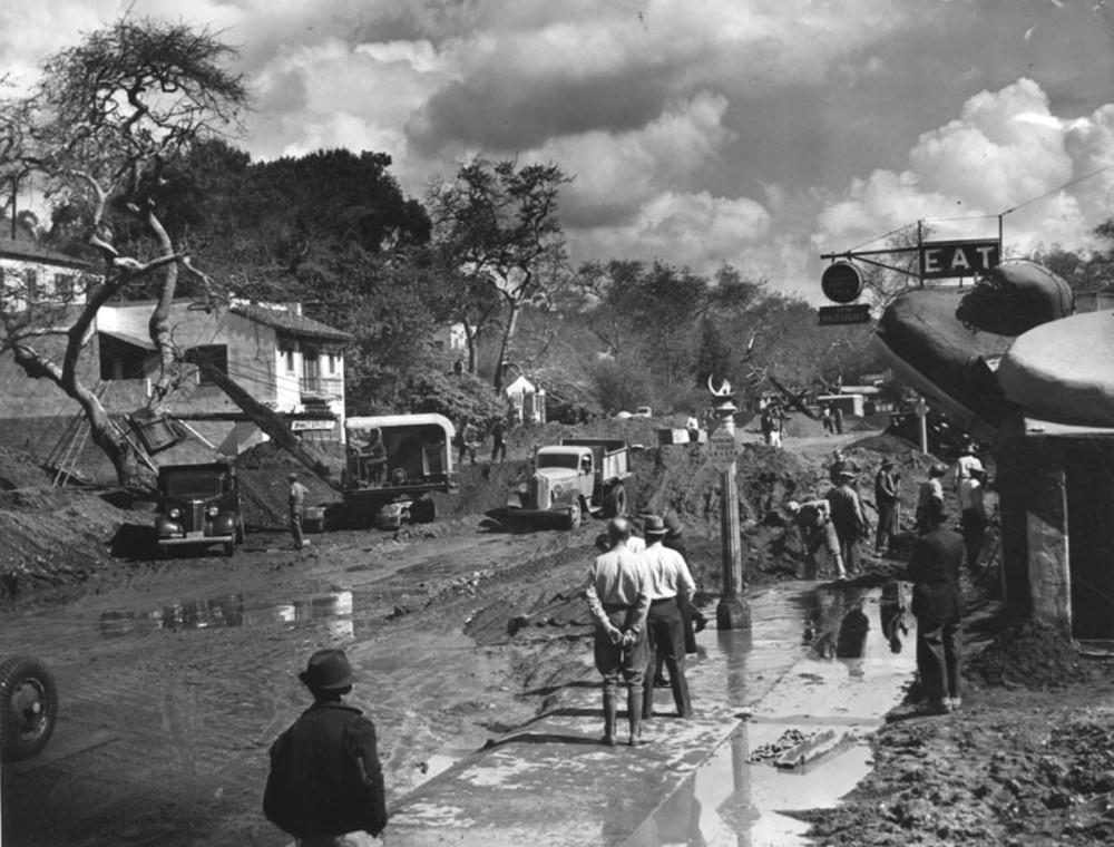 1938. Árvíz utáni helyreállítás, Santa Monica kalifornia..jpg