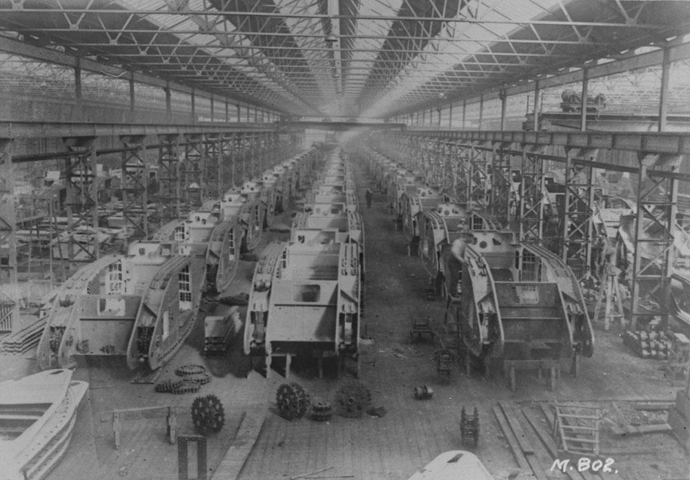 1916. Tank-gyár Birmingham, Anglia..jpg