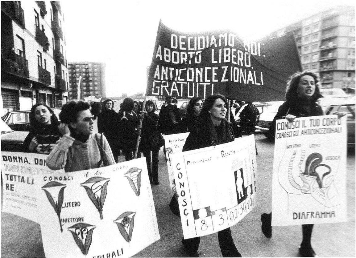 1975. pro-abortion and pro contraception demonstration, Italy.jpg