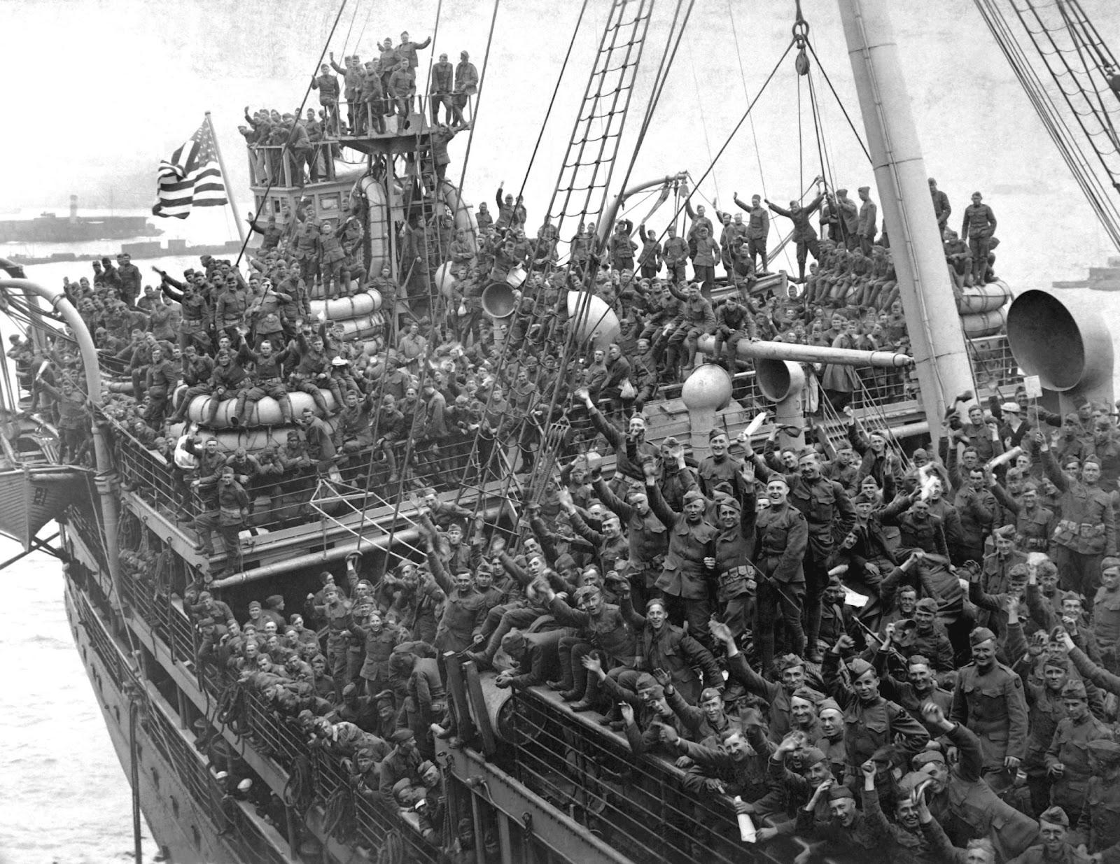 1918. Amerikai katonák hazatérése, Hoboken, New Jersey.jpg