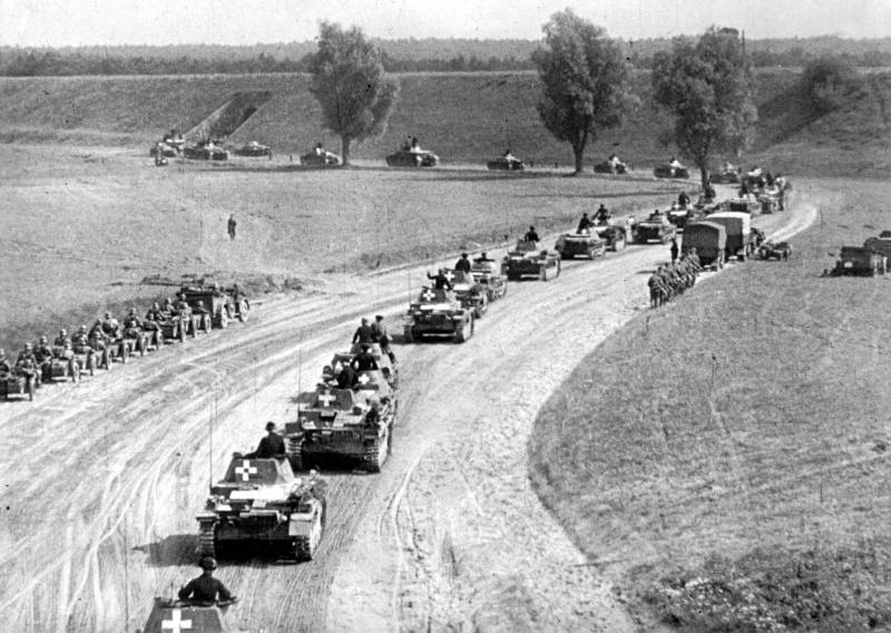 Német páncélos hadoszlop Nyugat-Lengyelországban