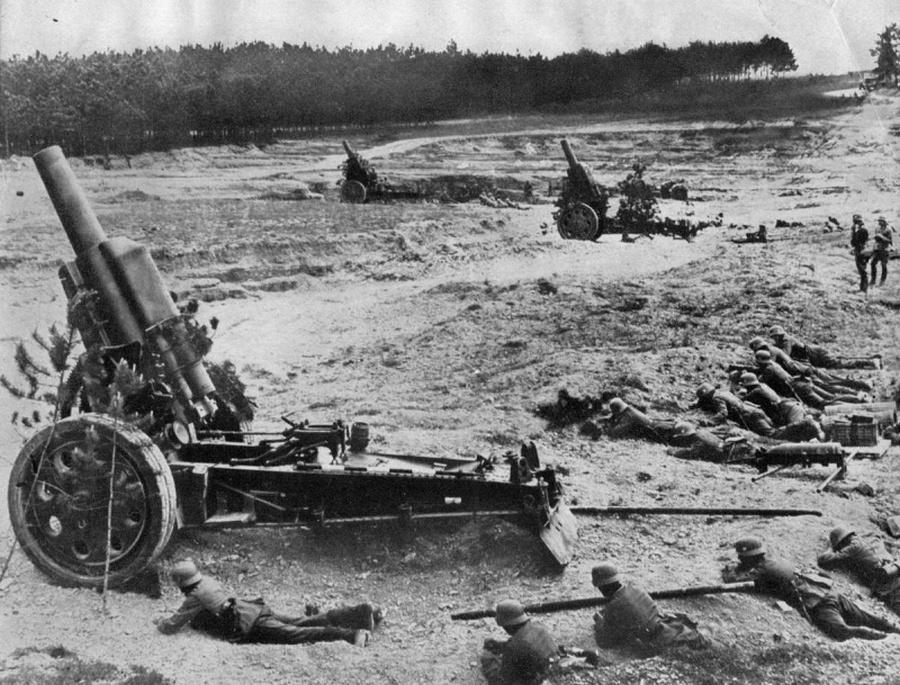 Német 210 mm-es lövegek