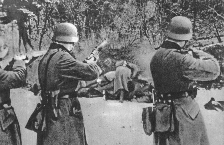 Lengyel civilek kivégzése. December 18, 1939, a lengyel Bochnia-ban 56 embert lőttek agyon.