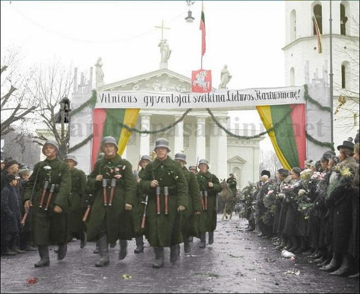 Lithuanian military parade in the old capital of Vilnius, October 15, 1939..JPG