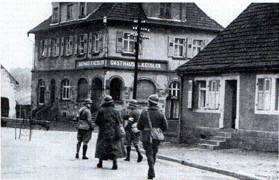 Kleinblittersdorf, a francia határhoz közeli falu.
