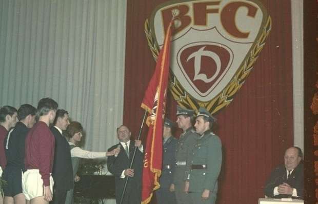 Dynamo csapatzászló átadás 1966.