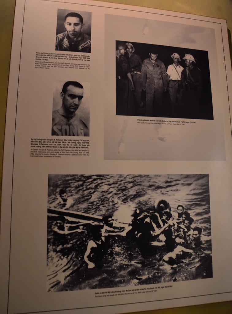 Az amerikai pilotak elfogasat is dokumentaltak.<br />Legalol John McCain -t hozzak ki a Truc Bach tobol ahova zuhant, miutan lelottek a repulojet, 1967. oktober 26-an.
