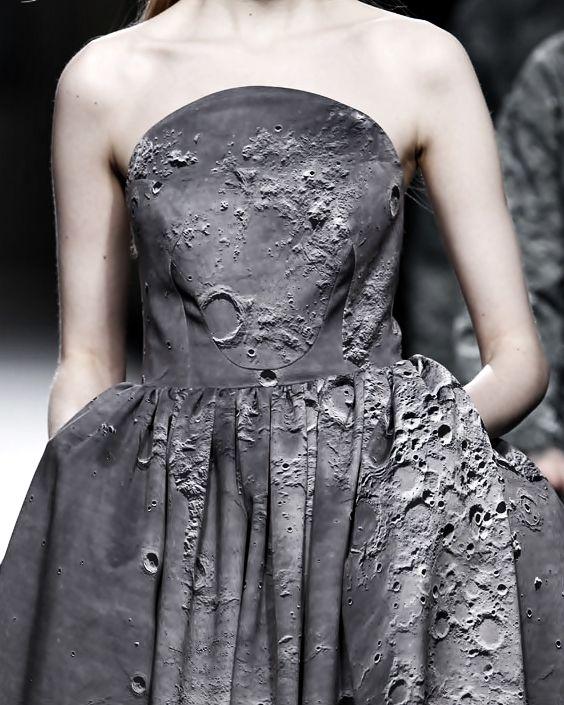 Moon Crater Print Dress Ana Locking Fall 2014