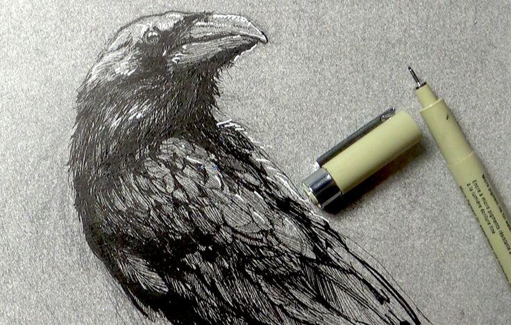 Hogyan rajzoljunk tollal (mondjuk koponyát)?