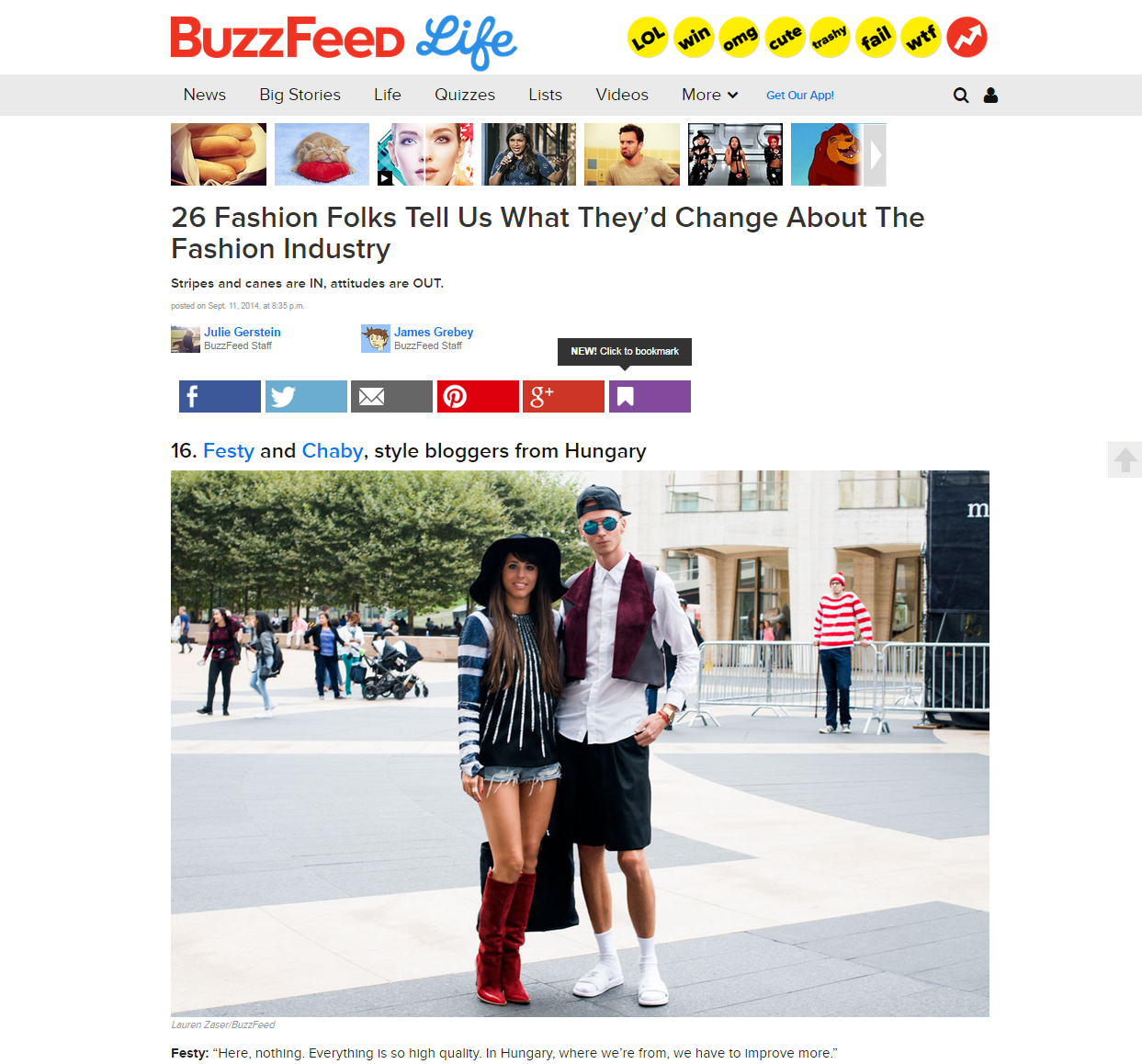 on the USA's most popular website  /  BuzzFeed Life
