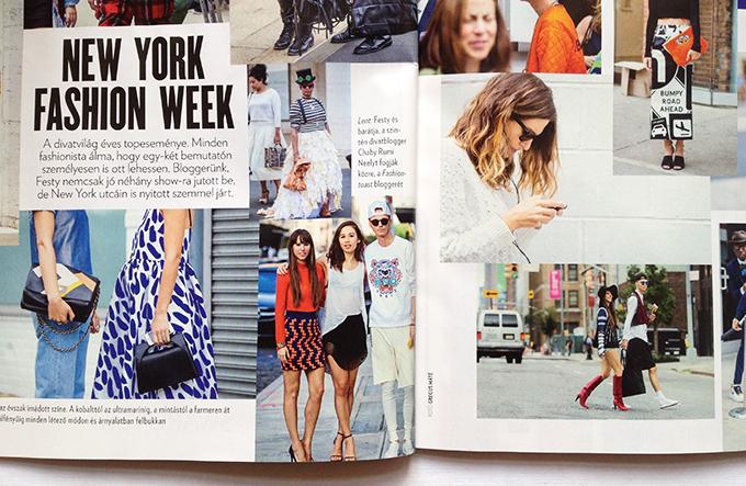 Beszámolónk a New York Fashion Week-ről a Marie Claire magazinban